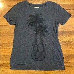 Palm Tree Guitar Grey T-shirt